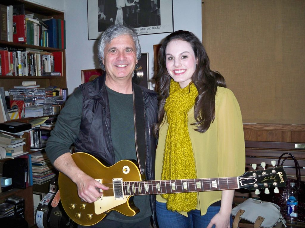 Mira working with Laurence Juber